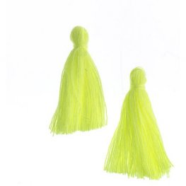 Components - 1in Cotton Tassels - Sunshine Yellow (Pack of 20)