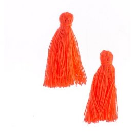 Components - 1in Cotton Tassels - Hot Pink (Pack of 20)