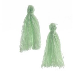 Components - 1in Cotton Tassels - Seafoam (Pack of 20)