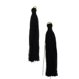 Components - 2.25in Poly Cotton Tassels - Black (Pack of 10)