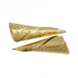 Findings - Jingle - 64mm Embossed Jingle Cone McPherson - Brass (25)