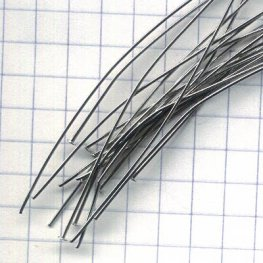Headpins - 2.5in / 21ga Flat Head - Rhodium Plated (100)