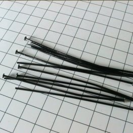Headpins - 2in / 20ga Flat Head - Gunmetal (100)