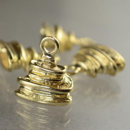 Metal Bead Cap/Cone - Wrapped Bundled Wire - Goldplated