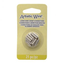 Findings - Assorted Sizes Crimp Tubes for Wire - Silver (Pack)
