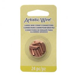 Findings - Assorted Sizes Crimp Tubes for Wire - Copper (Pack)