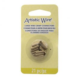 Findings - Assorted Sizes Crimp Tubes for Wire - Brass (Pack)