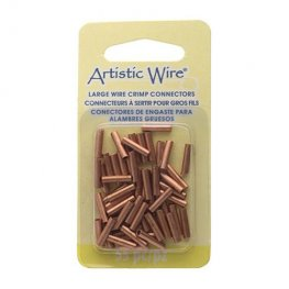 Findings - 14ga Crimp Tubes for Wire - Copper (Pack)
