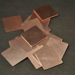 Metal Sheet - 19mm Square Blank - Copper