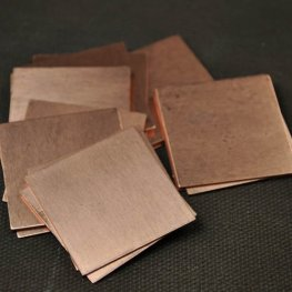 Metal Sheet - 27mm Square Blank - Copper