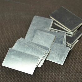 Metal Sheet - 13x22mm Rectangle Blank - German Silver