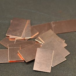 Metal Sheet - 13x22mm Rectangle Blank - Copper