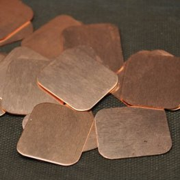 Metal Sheet - 22x25mm Rounded Corner Rectangle Blank - Copper