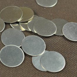 Metal Sheet - 19mm Round Blank - German Silver