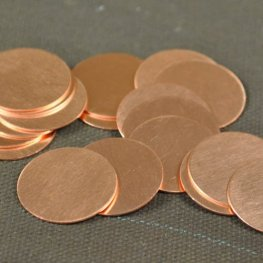 Metal Sheet - 19mm Round Blank - Copper