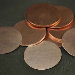 Metal Sheet - 38mm Round Blank - Copper
