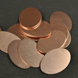 Metal Sheet - 20x30mm Oval Blank - Copper