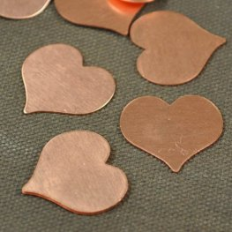 Metal Sheet - 23mm Heart Blank - Copper