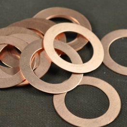 Metal Sheet - 38mm Washer Blank - Copper