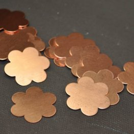 Metal Sheet - 22mm Flower Blank - Copper