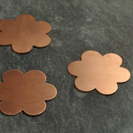 Metal Sheet - 34mm Flower Blank - Copper
