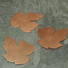 Metal Sheet - 40x50mm Cut Edge Leaf Blank - Copper
