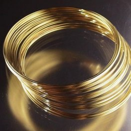 Memory Wire - Large Bracelet Memory Wire - Goldplated (.5 oz)