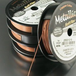 Softflex (tm) Beading Wire - 30ft .024 (Heavy) - Copper Colour (Spool)