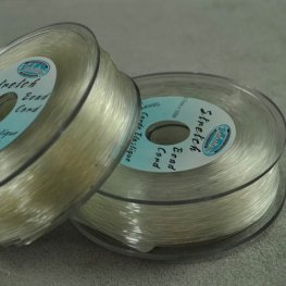 Stringing - .7mm x 100m Stretch Bead Cord - Clear (Spool)