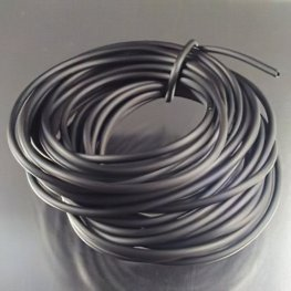 Stringing - 2.5mm Rubber Tubing - Black (5 meters)