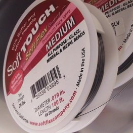 Soft Touch by Softflex (tm) Beading Wire - 100ft .019 (Medium) - Silver Grey (Spool)
