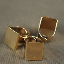 Findings - Flat Scarf Ring - Gold Plated