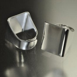 Findings - Flat Scarf Ring - Bright Silver