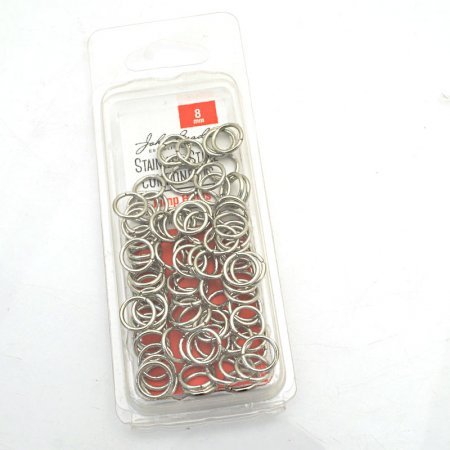 Jump Rings Open 8mm / 18ga - Stainless Steel (100)