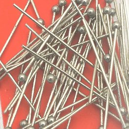 Headpins - 1in / 22ga Ball - Stainless Steel (50)