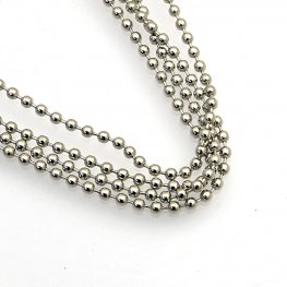 Chain - 2.4mm Ball Chain with Connector - Stainless Steel (1 meter)