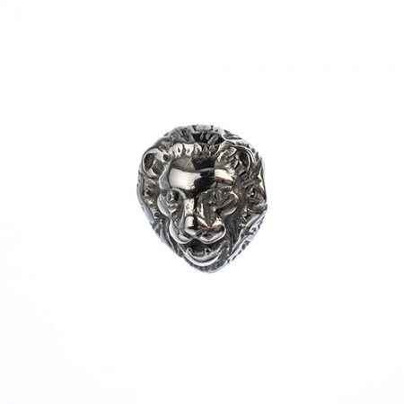 Bead - Calm Lion Head - Stainless Steel
