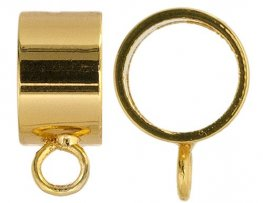 Bail Round Pendant Slider with Loop ID 7.7mm - Gold (4)