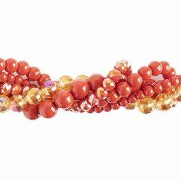 Bead Mix - Crystal Lane Twisted Bead Strands - Anthurium (Pack)