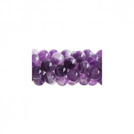 Stone Beads - 6mm Round - Dog Tooth Amethyst (strand)