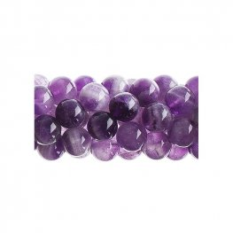 Stone Beads - 8mm Round - Dog Tooth Amethyst (16 inch strand)