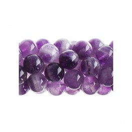 Stone Beads - 10mm Round - Dog Tooth Amethyst (16 inch strand)