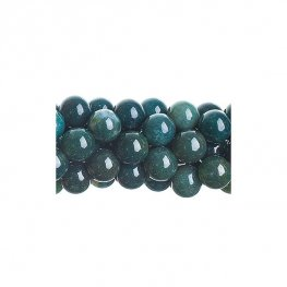 Stone Beads - 6mm Round - Moss Agate (strand)