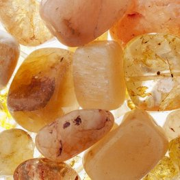 Stone Beads - Assorted Earths Jewels - Yellow Jade/Quartz/Jasper Dyed (Pack)