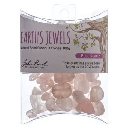 Stone Beads - Assorted Earths Jewels - Rose Quartz Natural (Pack)