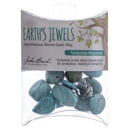 Stone Beads - Assorted Earths Jewels - Turquoise Magnesite Dyed (Pack)