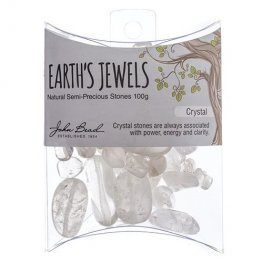 Stone Beads - Assorted Earths Jewels - Crystal Quartz Natural (Pack)