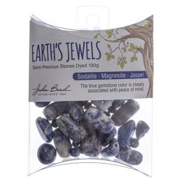 Stone Beads - Assorted Earths Jewels - Blue Sodalite/Magnesite/Jasper Dyed (Pack)
