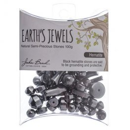 Stone Beads - Assorted Earths Jewels - Hematite Natural (Pack)