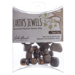 Stone Beads - Assorted Earths Jewels - Tiger Eye Natural (Pack)